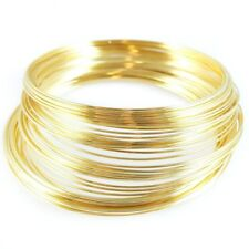 2.25 inch gold plated stainless steel bracelet memory wire, 1oz. (approx. 70 loo