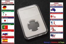 1 x New High Quality Coin Slab Holder (23mm) Storage Case with Free Extra Label