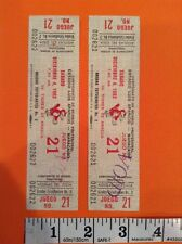 1982 Estadio Luis Aparicio Baseball Ticket Stub pair lot Tigres De Aragua