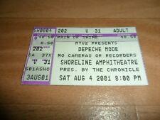 DEPECHE MODE - VERY RARE SHORELINE AMPHITHEATRE USA TICKET STUB  04-08-2001