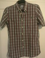 Superdry Mens Short Sleeve Check Shirt, Size Large smart / casual ware