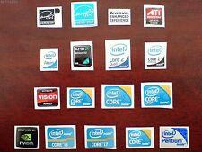 Intel Core i7/Core i5/Core 2 Duo/Extreme/NVIDIA/AMD/Pegatina/sticker/Aufkleber