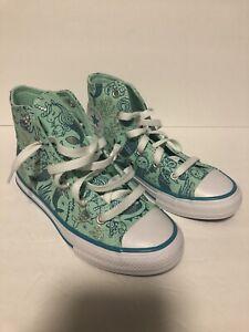Converse Kids Chuck Taylor All Star 667202F Green Size 1 Mermaid Mint Silver Sea