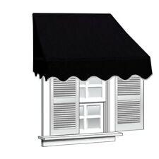 ALEKO Window Awning Door Canopy Decorator 6x2ft Sun Rain Shade Shelter Black