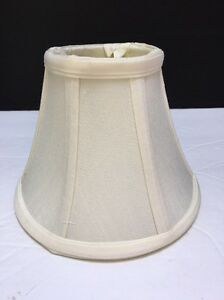"""12 QUALITY 6"""" HAND SEWN OFF WHITE SILK SHADE For Chandeliers Murray Feiss S8770"""