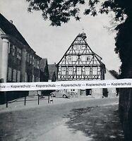 Nordheim im Zabergäu - Rathaus und Pfarrhaus - um 1955 - RAR        J 25-3