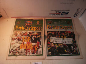 1/25/97 Green Bay Packers Report Super Bowl XXXI Brett Faver Drew Bledsoe