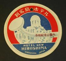 Vintage Hotel New Hiroshima Japan Luggage Tag