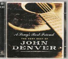 2 CD BEST OF 25 TITRES--JOHN DENVER--A SONG'S BEST FRIEND / THE BEST OF