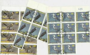 Rep. De Djibouti Assorted Birds Stamps Decoupage Crafts or Collect Ref 28360