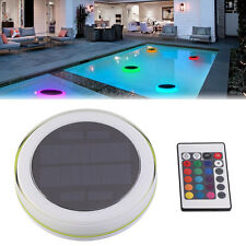 New RGB LED Underwater Light Solar Power Swimming Pool Floating Remote Control