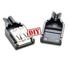 Connecteur USB 2.0 Femelle Fiche Prise à Souder Connecteur Plug Socket DIY