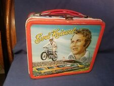 1974 VINTAGE EVEL KNIEVEL METAL  LUNCHBOX embossed VG CONDITION!!  rare find