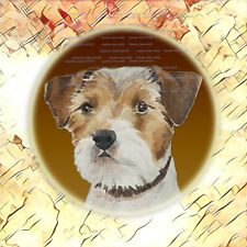 Parson Russell Terrier Dog Watercolour Design Fabric Print by Artist Sandra Coen