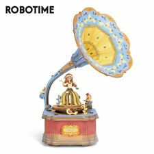 Rolife DIY Gramphone Music box 3D Wooden Puzzle Building Toy Gift for Girl Kids
