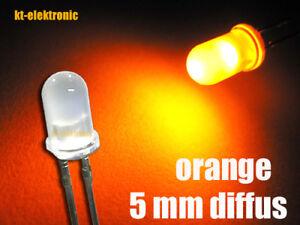 10 Stück LED 5mm orange matt/diffus superhell