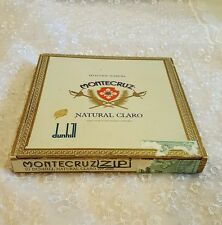 MONTECRUZ DUNHILL Cigar wooden Box 10 Natural Claro