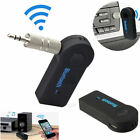 Wireless Bluetooth Hands-Free Audio Receiver 3.5mm AUX Adapter Car Stereo Music