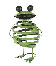 Ganz Green Bouncy Metal Frog Yard Art Garden Decor