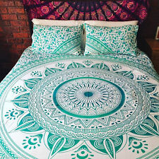 Indian Mandala Doona / Duvet Cover Bedding Set Bed Cover 2 Pillow Covers Set UK