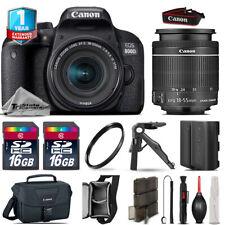 Canon Rebel 800D T7i DSLR Camera + 18-55mm IS STM + EXT BAT + 32GB +1yr Warranty