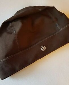 Lululemon Womens Hat Beanie Run It Out Brown Ponytail Free Hole Touque Run Hike