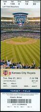 2011 Twins vs Royals Ticket: Rene Tosoni hits grand slam/Chris Parmelee Home Run