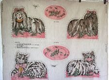Vintage Pillow Toy Panel Stuffed Dog Cat Springs Mills 1976 Novelty Tiger Minnie