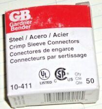 GARDNER BENDER 10-411 50 STEEL CRIMP SLEEVE COMMECTORS (5PK)