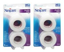 2 Pack - Nexcare First Aid Flexible Clear Tape 1 Inch X 10 Yards 2 Per Pack