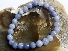 Natural Gemstone Bracelet Aquamarine February Birthstone 8mm beads stretchable