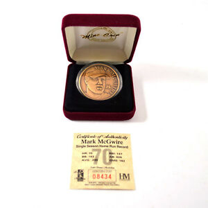 Highland Mint Mark McGwire Bronze Coin # out of 25,000 COIN00176
