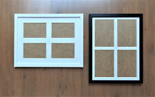 """Black or White Photo Frame with Multi-Aperture Mount for 4 @ 6x4"""" or 7x5"""" prints"""