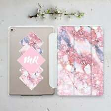 Personalized Pink Cover For iPad Mini 4 5 Marble iPad Air 2 3 Pro 11 Smart Case