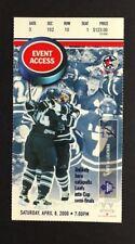 2000 Toronto Maple Leaf NHL Hockey Last Game Of Season Ticket Vs Lightning ACC