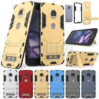 Slim Hybrid Hard Armor Case Shockproof Kickstand Cover For Motorola Moto Z2 Play