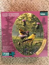 Buffalo Games Country Morning Goldfinch Oval Jigsaw Puzzle - 750 Pieces