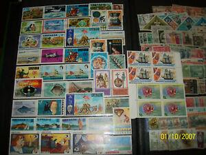 50 Vintage Mint GRENADA Stamps Some Blocks