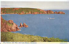 Channel Islands Postcard - Pea Stacks and Dog and Lion Rocks - Guernsey   BH5990