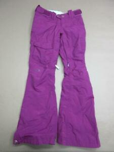 THE NORTH FACE SIZE XS WOMENS PURPLE NYLON INSULATED OUTDOOR SNOW PANTS T702