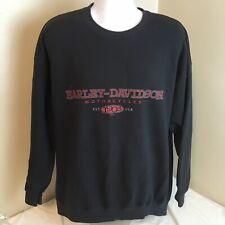 2002 Harley Davidson Mens Sweatshirt Black 2XL XXL Crewneck Frederick MD Dealer