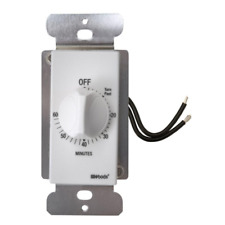 Wall Spring Wound Countdown Timer Switch White 20 Amp 60 Minute Automatic Indoor