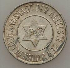 1942 JUDE JEWISH GETTO COIN 10 Pfenning  QUITTUNG UBER LITZMANNSTADT Varsovie