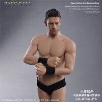 """JIAOU DOLL 1/6 Male SuntanBody Model Flexible JO-K10A-PS Fit 12"""" Head Figure"""