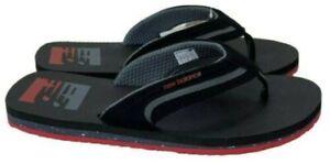 New Balance Men's Brighton Thong Sandal Black/Red, 8 D US (M6079BRD)