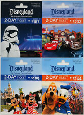 4 Different DISNEYLAND Passport Gift Cards 2017 Mint Star Wars, Cars, Mickey ++