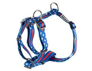 Patriotic American Flag Harness- Extra Strong Stylish Custom Dog Harness