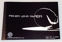 """FISHER LENS PAPER 6"""" x 8"""" 100 Lense Cleaning Sheets Cat. No. 11-995 Scientific"""