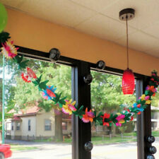 Tropical Paper Flower Garland 9.9ft Hawaii Luau Party Favor String Garland 1pc
