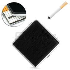 Leather Cigarette Tobacco 20pcs Case Box Holder Pocket